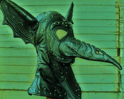 Matrix-ified Bat Wing Plague Mask by LeatherHead72