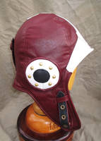 Steampunk Protoman Leather Aviator Helmet by LeatherHead72