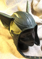 New Green Leather Cat Ear Aviator! by LeatherHead72