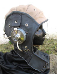 Custom Fallout Cosplay Leather and Metal Aviator!