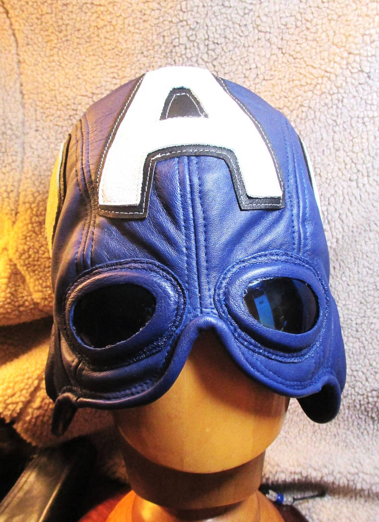 Leather Captain America Half- Hood Mask by LeatherHead72