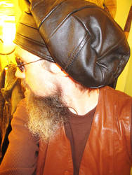 Leather Slouchy Beanie/ Dread Hat 4 by LeatherHead72