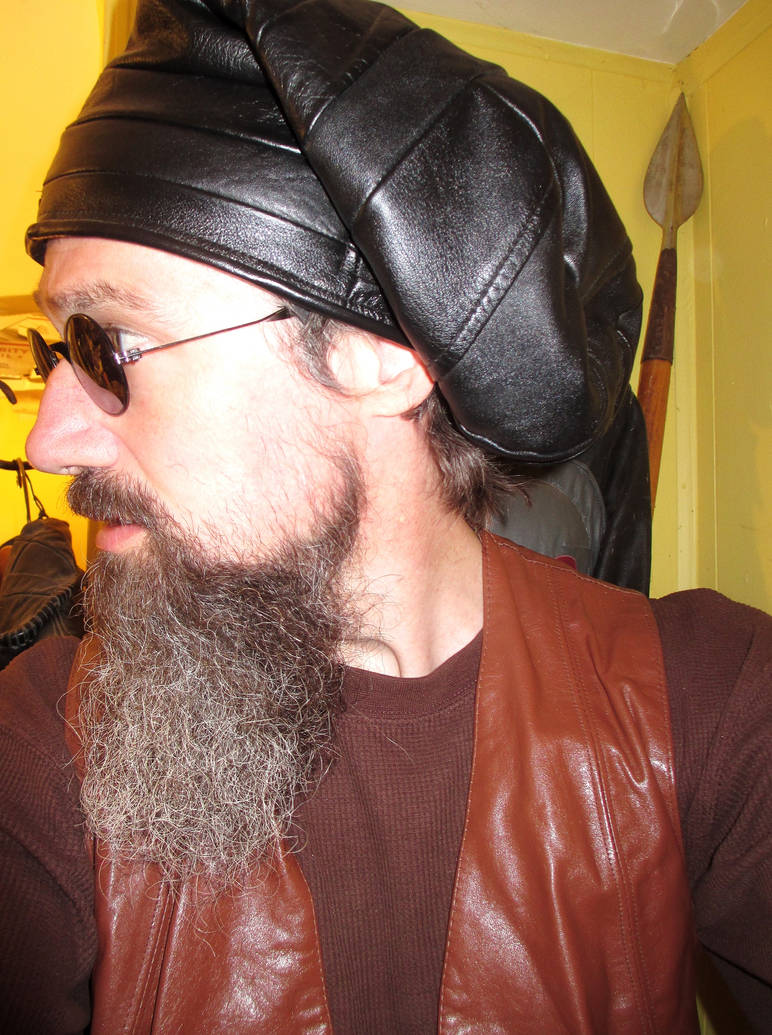 Leather Slouchy Beanie/ Dread Hat 3 by LeatherHead72
