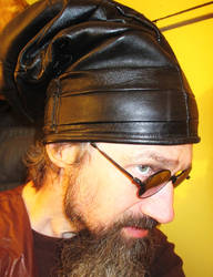 Leather Slouchy Beanie/ Dread Hat by LeatherHead72