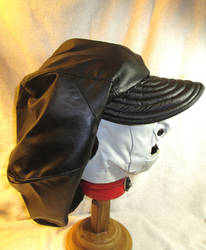 Huge Floppy Custom Leather Hat, Side by LeatherHead72