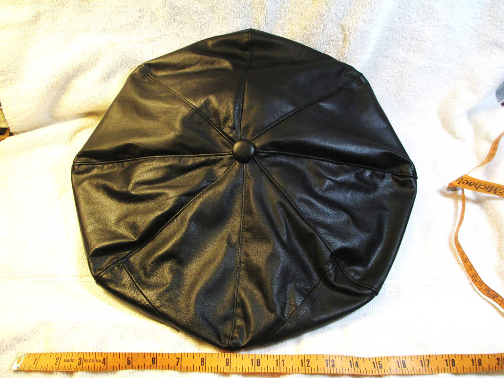 Huge Floppy Custom Leather Hat, Top by LeatherHead72