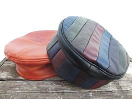 Two Leather Kufi Hats, Custom Order