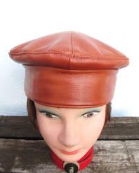 Leather Kufi Hat