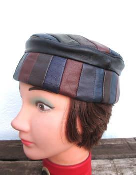 Multicolored Leather Kufi Hat