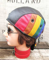 Leather Skullcap for PRIDE! by LeatherHead72