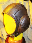 Brown Padded Leather Aviator Hat! by LeatherHead72