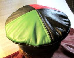 Custom Tri Color Leather Kufi Hat! by LeatherHead72