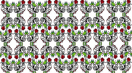 Simple tile pattern: Roses by ViolentCat345