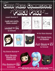 [OPEN] Commissions Price List - Chibi Heads 2019