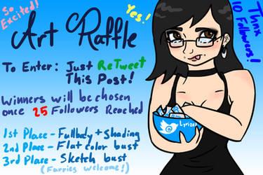 [OPEN] 1st Twitter-Based Art Raffle!