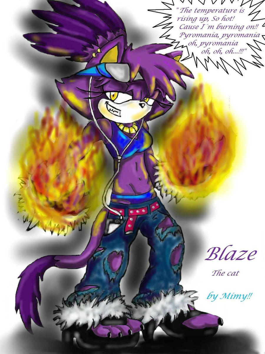 Sexy Blaze The Cat Sonic