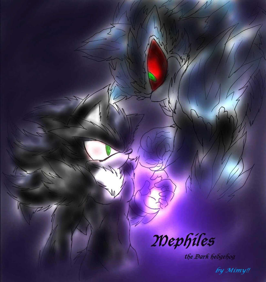 Mephiles the Dark hedgehog by Mimy92Sonadow