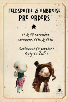 preorders feldspathe and ambroise soon open !