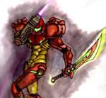 Samus with Sword