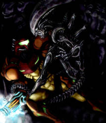 SAMUS ARAN Ultimate Bug Hunter by Turbid-D