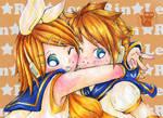 Rin and Len by koyomel-doughnut