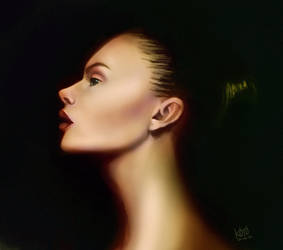 Portrait study by koyomel-doughnut