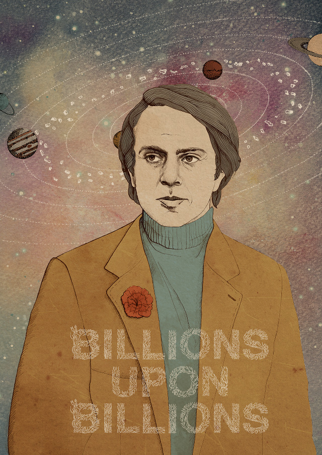 Carl Sagan by Heather8