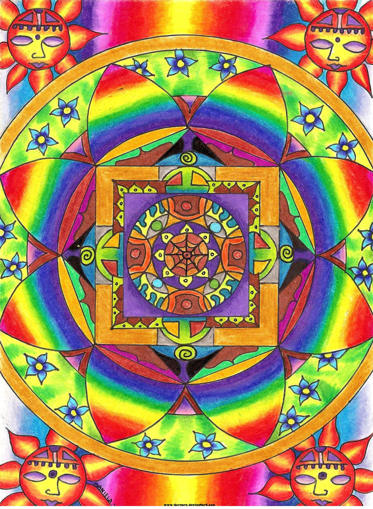 Rainbow Mandala by kornera