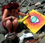 Painting at Sea by kornera