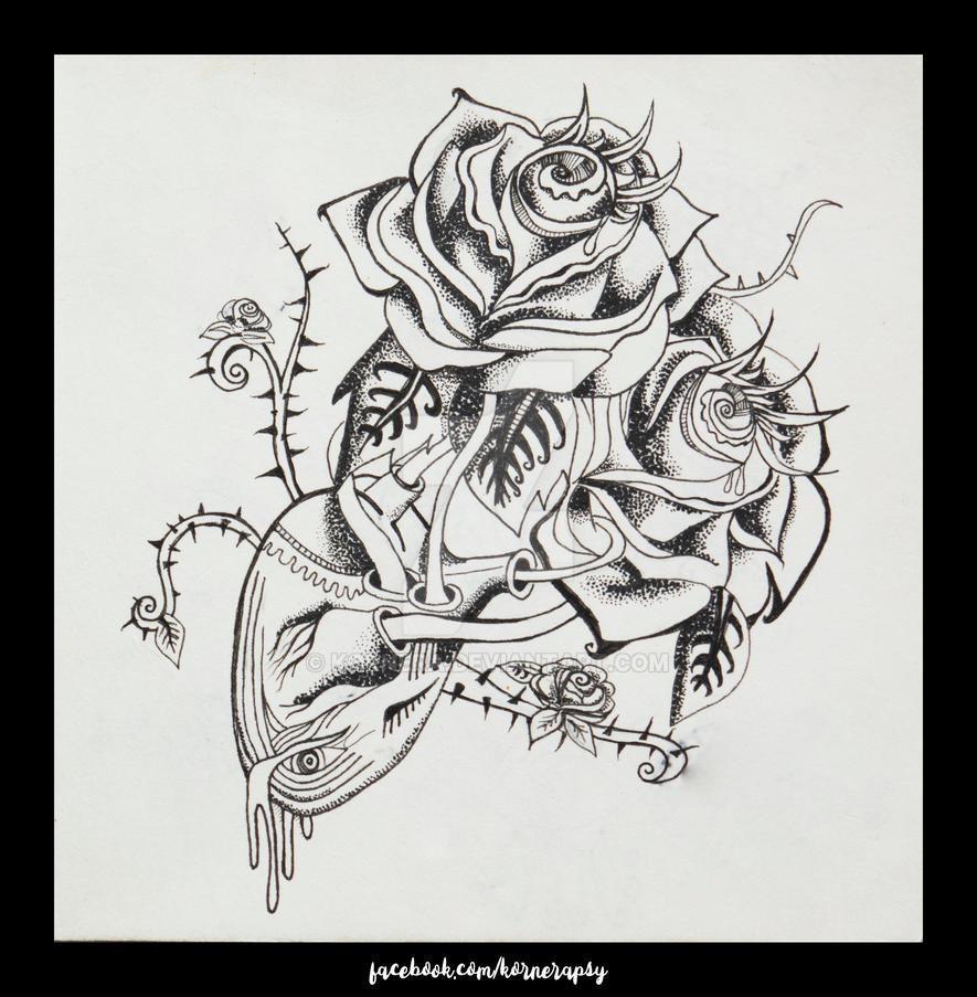 Rosas que crecen del corazon by kornera