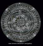 Mandala eye and hand's