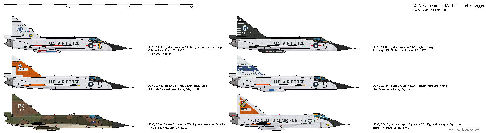 FD-Scale Convair 8 F-102 Delta Dagger - USA