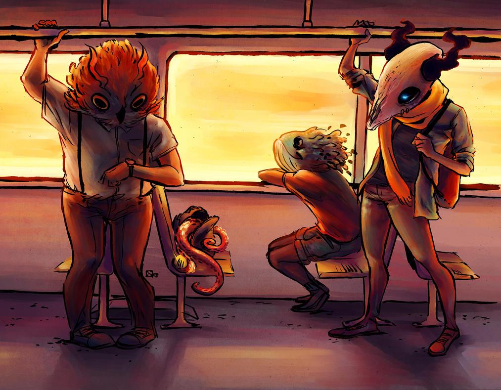 Monsters ordinary life by Takiusa