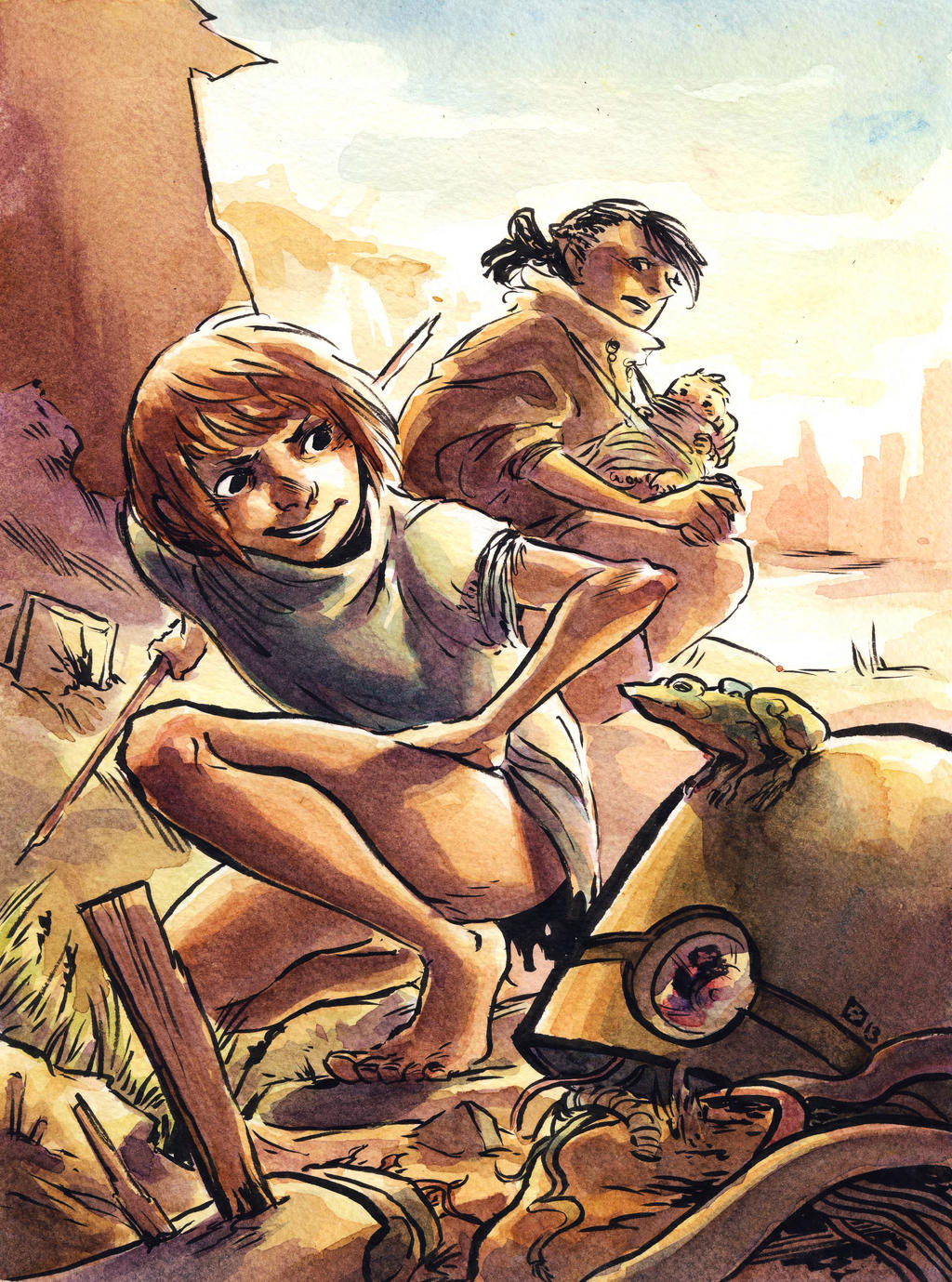Being a mother in a post-apocalyptic world by Takiusa