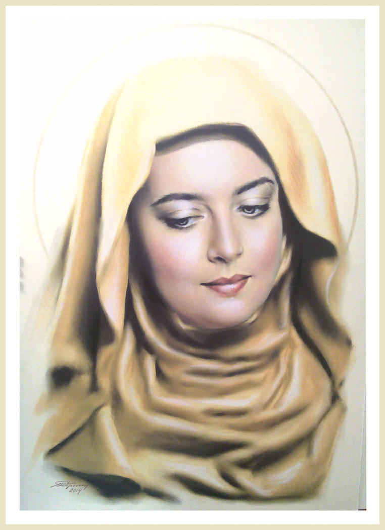 The New Madonna.  St.Patroness of Love by AramN