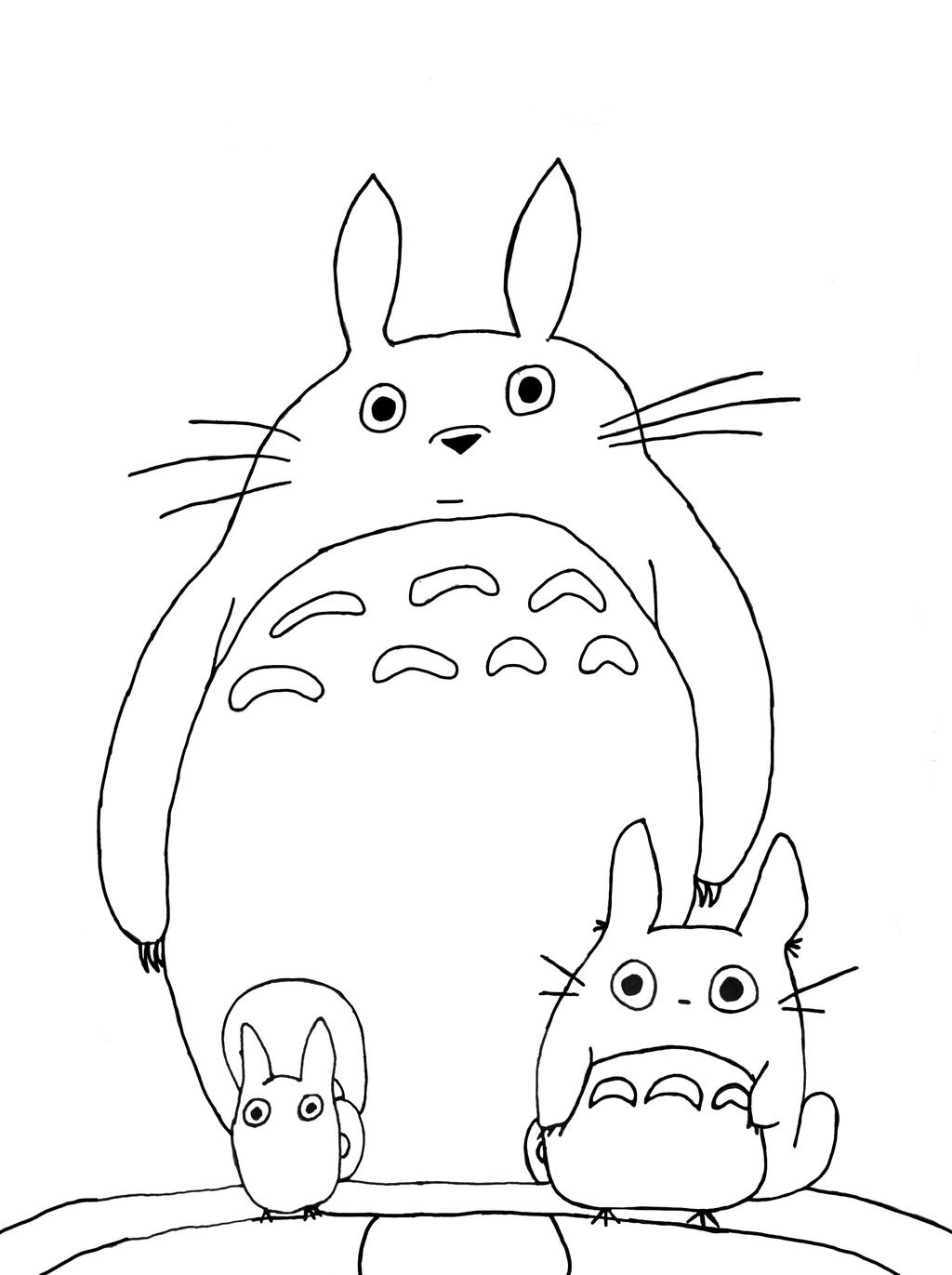 My neighbor totoro tattoo idea by irmasamantha on deviantart for My neighbor totoro coloring pages