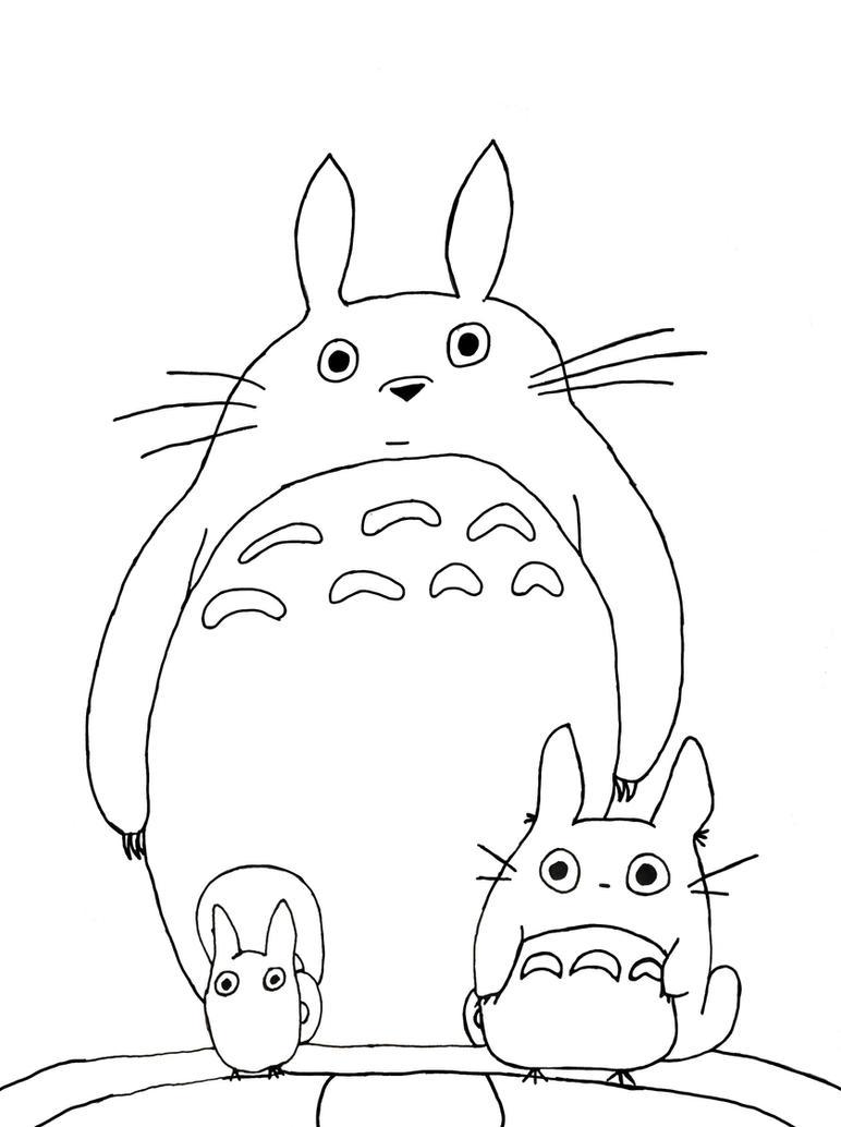 my neighbor totoro tattoo idea by sammyammyamtha - Neighbor Totoro Coloring Pages