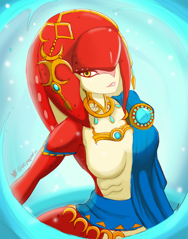 Mipha Sketch The Loz Breath Of The Wild By Jellcaps On Deviantart