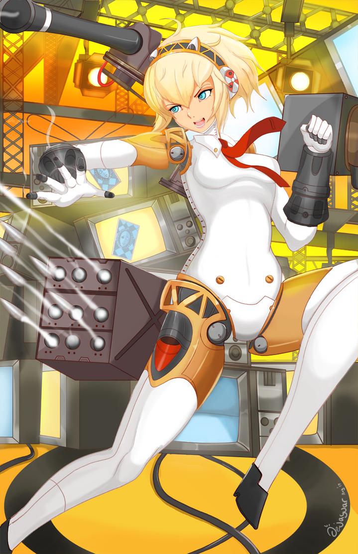 Persona 4 Arena - Aigis by Jellcaps