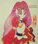 PreCure Drawtober2020 - Cure Scarlet by Nanao178