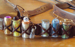 Steampunk Potions Belt by OneWeeb
