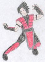 Sasuke Uchiha - Mortal Kombat by FoxBluereaver