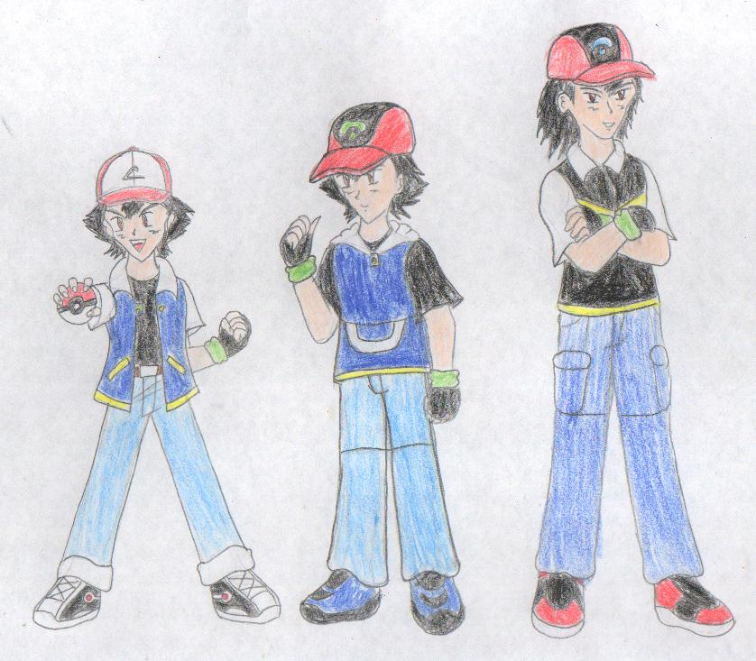 Ash Ketchum's growth by FoxBluereaver