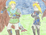 Link and Sheik - So here you are... by FoxBluereaver