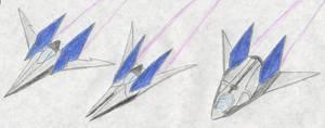 Star Fox 2 Arwings by FoxBluereaver