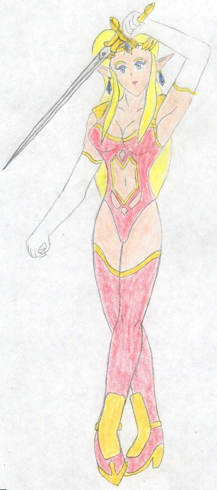 Sexy Zelda by FoxBluereaver