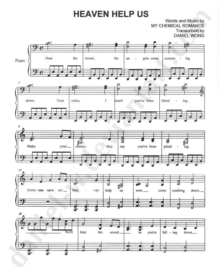 Cancer Mcr Piano Sheet Music Keninamas