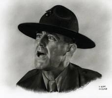 Sergeant Hartman (Movie : Full Metal Jacket) by YannKopf