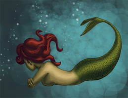 Mermaid by kittychasesquirrels