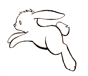 Bunny Lineart by kittychasesquirrels